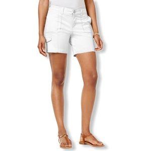 Style & Co Petite Zig-Zag Cargo Shorts